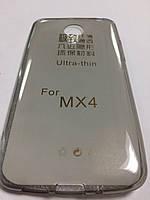 Силикон ультратонкий прозрачный для Meizu MX4 grey