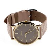 """Часы наручные женские """"Geneva classic"""" бежевые"""