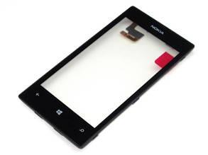 Тачскрин сенсор для Nokia Lumia 520/525 orig с рамкой
