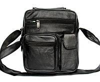 Мужская кожаная сумка - барсетка (882)