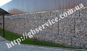 Подпорная стена из габионов и укрепление откоса георешеткой в Киево-Святошинськом районе