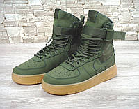Кроссовки Nike Special Field SF Air Force 1 зеленые (найк форс, аир форсы)