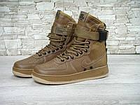 Кроссовки Nike Special Field SF Air Force 1 коричневые (найк форс, аир форсы)