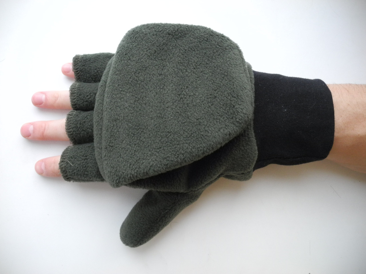 Перчатки-варежки из флиса