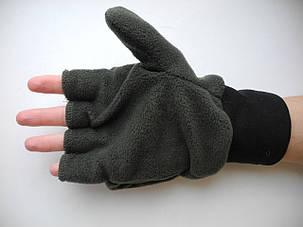 Перчатки-варежки из флиса, фото 2
