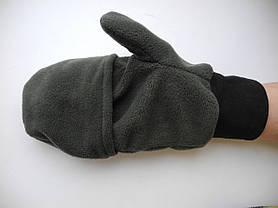 Перчатки-варежки из флиса, фото 3