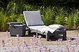 Шезлонг из искусственного ротанга Allibert Daytona серый, фото 4