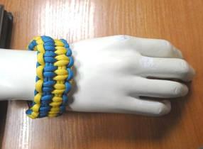 """Браслет из паракорда """"Украина"""" со свистком"""
