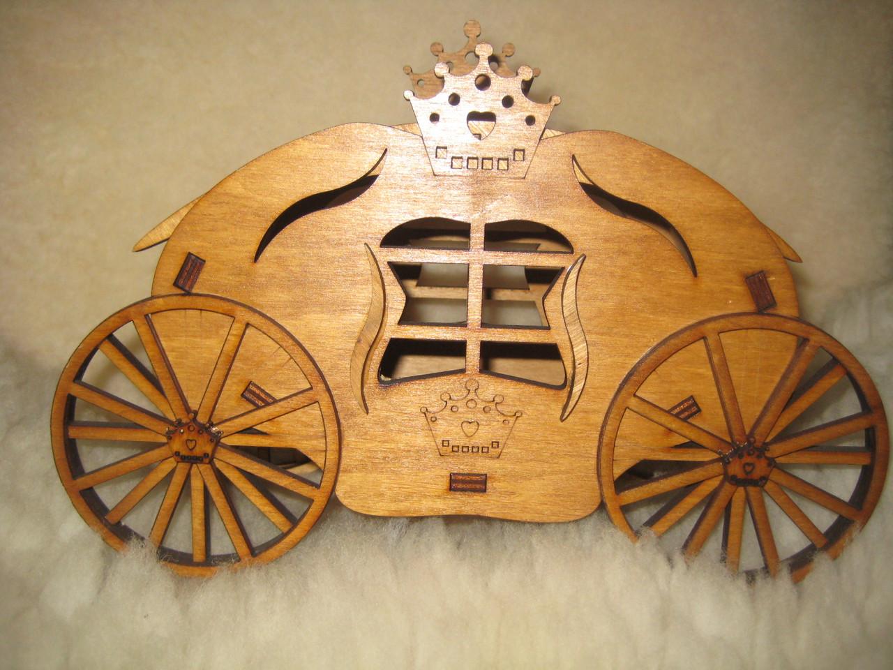 Цукерниця дерев'яна Карета