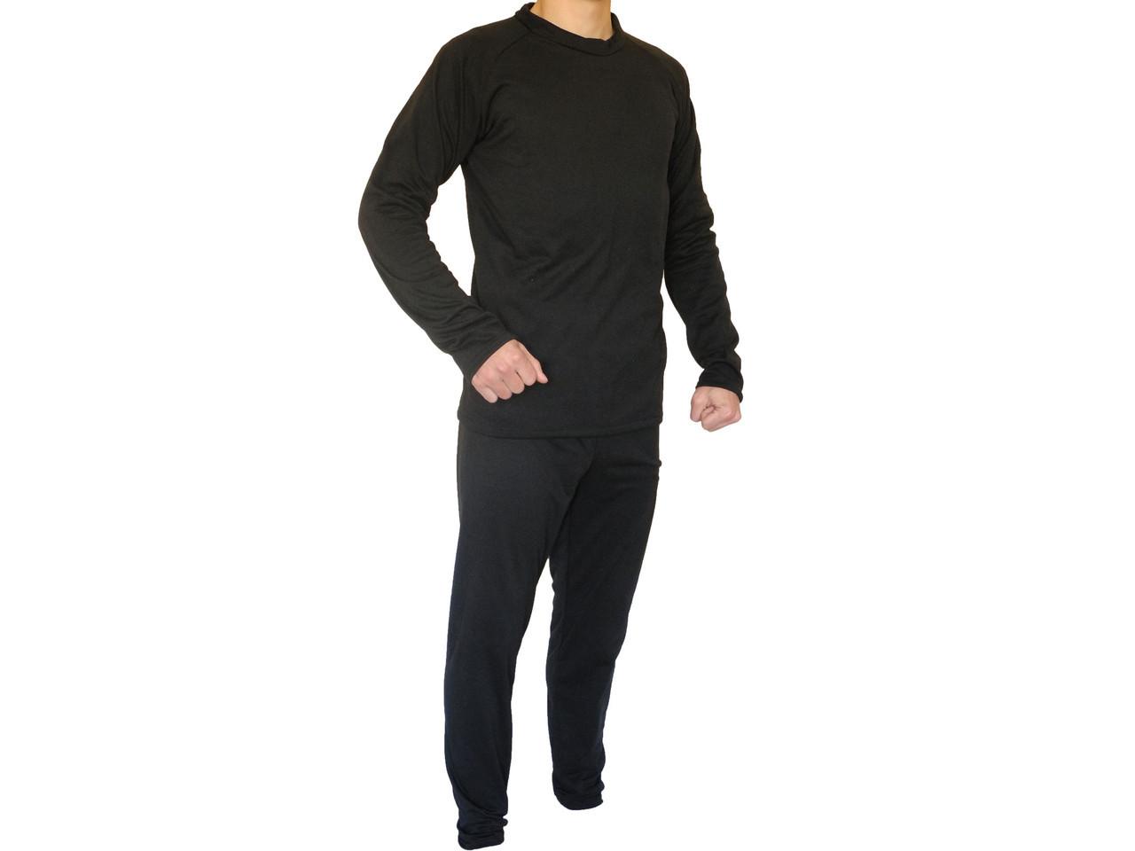 Термобелье мужское (комплект, цвет черный)