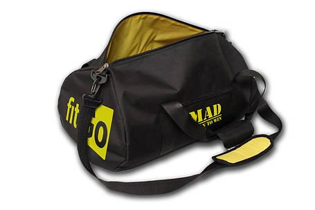 "Спортивная сумка - тубус ""FitGo"" (чёрная), фото 2"
