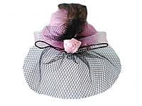 Шляпка с вуалью (розовая)