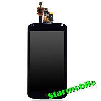 Дисплей для мобильного телефона LG E960/Nexus 4, черный, с тачскрином