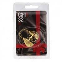 "32Gb Gift! USB 2.0 металл YC-171 ""Сумка LV "" Gold со стразами"