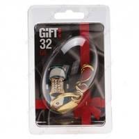 "32Gb Gift! USB 2.0 металл YC-226 ""В форме машинки "" Deep Blue со стразами"