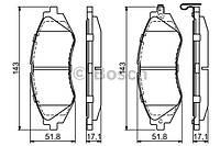 Тормозные колодки дисковые передние BOSCH 0 986 424 474 - LANOS 1.6, CHEVROLET Lacetti, Epica 2.0