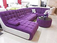 П-образный диван Каир (угол и оттаманка) + пуф