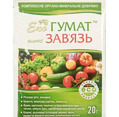 Стимулятор завязи Эко Гумат + Завязь 20 мл - восстановления плодородия почвы и питания растений