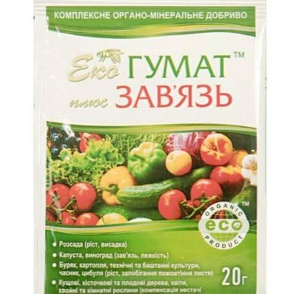 Стимулятор завязи Эко Гумат + Завязь 20 мл - восстановления плодородия почвы и питания растений, фото 2