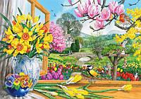 Схема для вышивки бисером Весна за окном КМР 3041