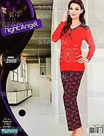 Женская домашняя одежда из Турции Night Angel 2888 S/M. Размер 44-46.