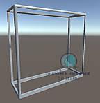 Прилавок из алюминиевого профиля. Каркас модель - 1