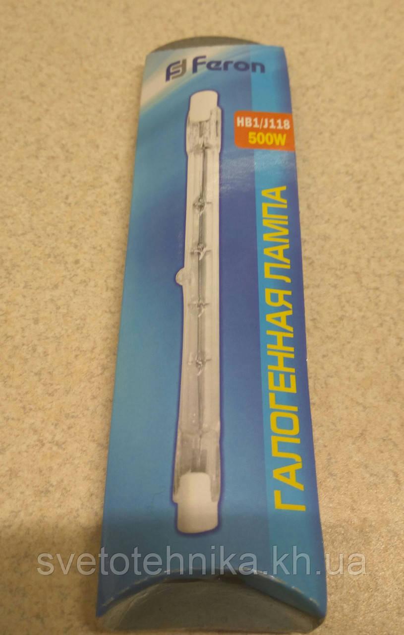 Галогенная линейная лампа (для прожекторов) FERON  J118 500W