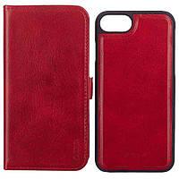 Чехол-книжка для iPhone 7 кожзам Devia Magic 2in1 Красный (6952897994167)