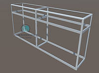 Прилавок торговый из алюминиевого профиля для самостоятельной сборки. Каркас для модели - 8