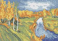 Схема для вышивки бисером Осень (по мотивам картины Левитана) КМР 3052
