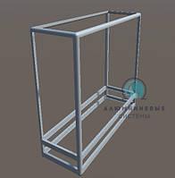 Прилавок торговый. Каркас из алюминиевого профиля для самостоятельной сборки. Модель - 3