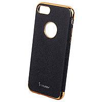 Накладка для iPhone 7 шкірзам iPaky Chrome Series Чорний