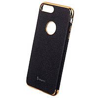 Накладка для iPhone 7 Plus шкірзам iPaky Chrome Series Чорний