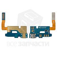 Шлейф Samsung N7105 Note 2 с коннектором зарядки, микрофоном и компонентами (high copyl)