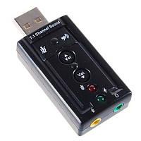 Внешняя USB звуковая карта, 7.1 Channel Sound Adapter