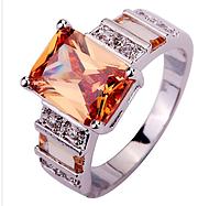 Солидное серебряное кольцо с морганитом 17р, фото 1