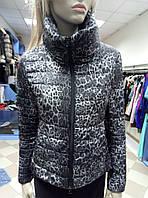 Курточка на силиконе серый леопард, Италия