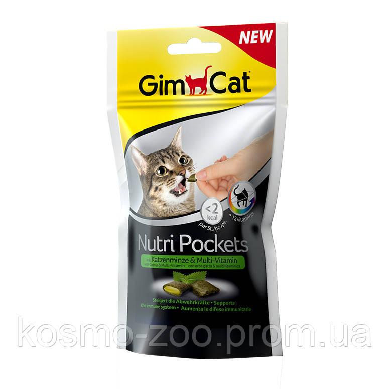 Подушечки Джимкет НутриПокетс (Gimcat NutriPockets) с кошачьей мятой и мультивитаминами, 60 гр