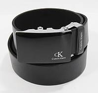 Кожаный ремень автомат мужской Calvin Klein 8006-308 черный