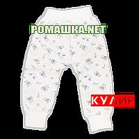 Штанишки на широкой резинке р. 68 ткань КУЛИР 100% тонкий хлопок ТМ Авекс 3326 Бежевый