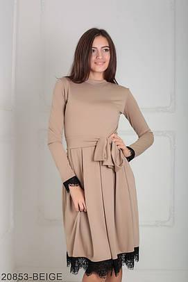 Класичне жіноче бежеве плаття Inster (XS-XXL)