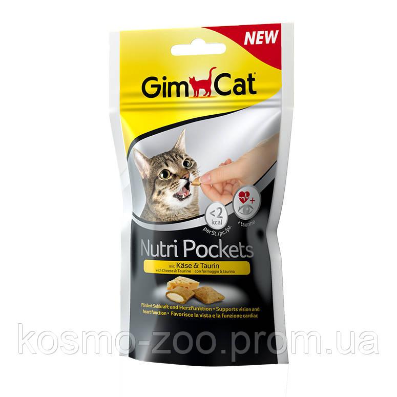Подушечки Джимкет НутриПокетс (Gimcat NutriPockets) с сыром и таурином, 60 гр