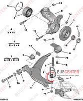 Гайка крепления шаровой опоры (1 шт) Citroen Berlingo M59 (2003-2008) 3622 30 FEBI BILSTEIN FE24361