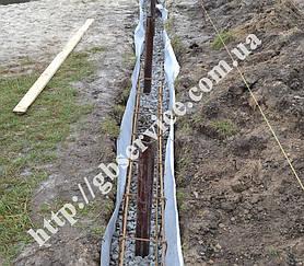 Подготовка к бетонным работам, геотекстиль