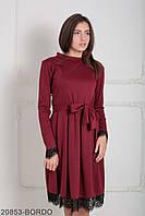 Класичне жіноче бордове плаття Inster (XS-XXL)