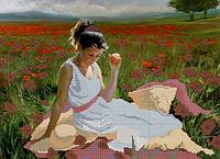 Схема для вышивки бисером На маковом поле КМР 3060
