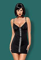 Элегантное сексуальное платье на косточках Obsessive (Обсессив) Gretia dress Черный