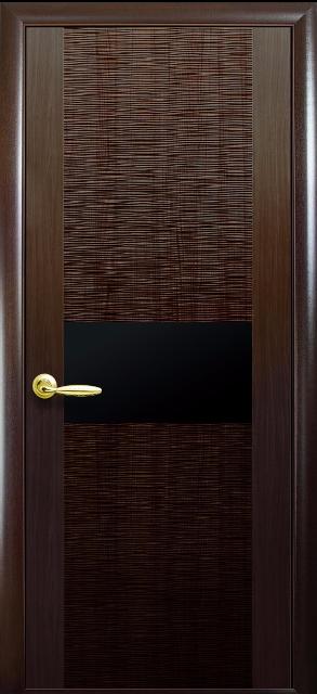 """Межкомнатные двери """"Аста"""" с черным стеклом"""