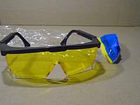 Очки защитные (желтые с черной оправкой)