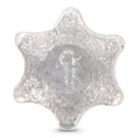 Нержавеющая заглушка-звездочка антивандальная, для винтов с с TORX